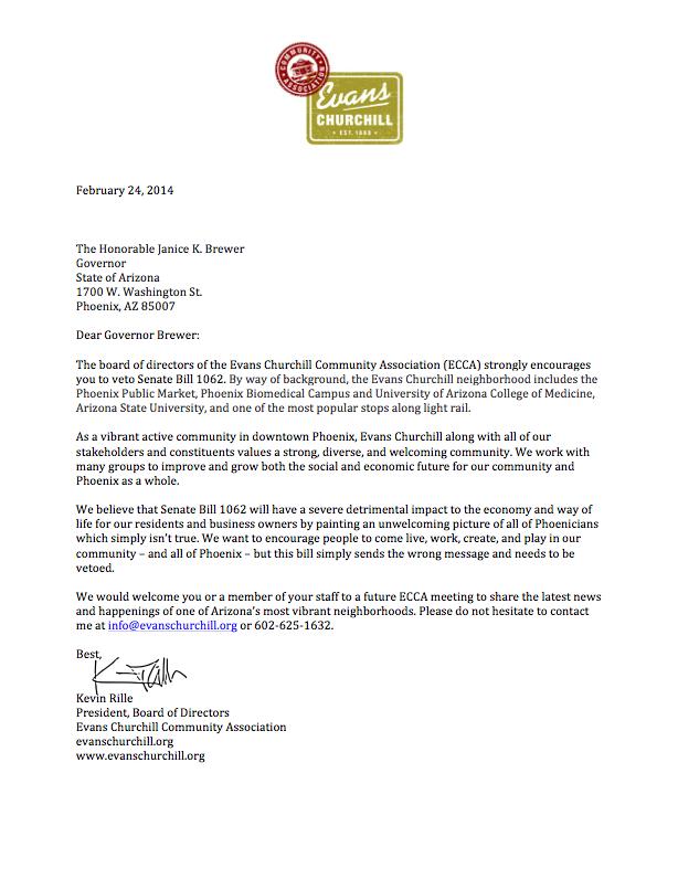 ECCA SB1062 Letter